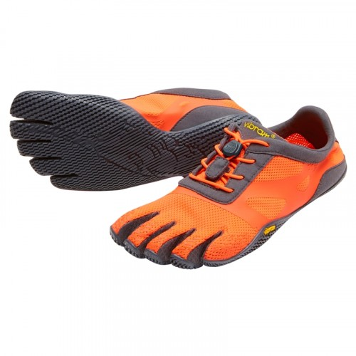 Vibram Five Fingers Womens KSO EVO : Fiery Coral / Grey