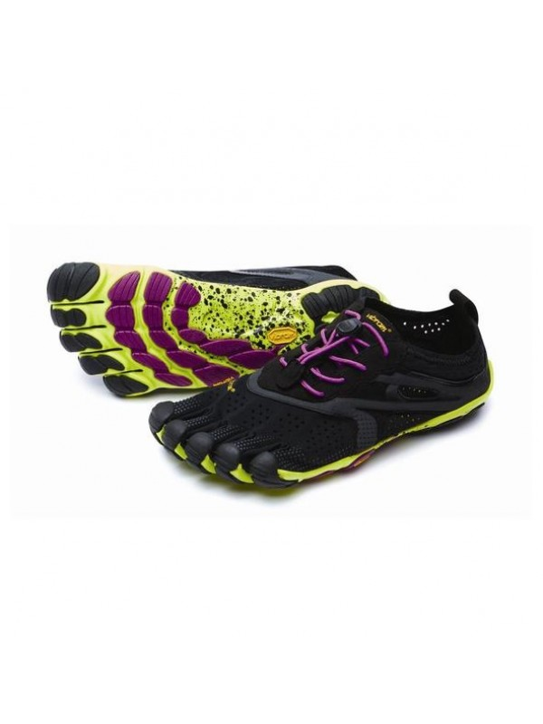 Vibram Five Fingers Womens  V - Run: Black / Yellow / Purple