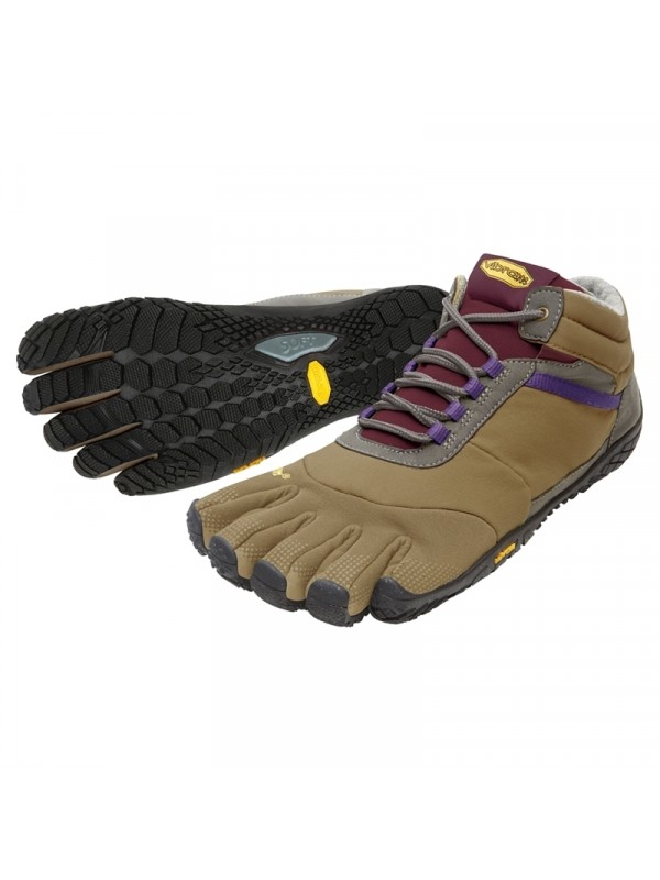Vibram Five Fingers Womens Trek Ascent Insulated : Khaki / Grape